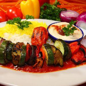Broiled Vegetable Kabob - Paymon's